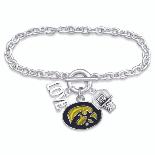 Iowa Hawkeyes  Bracelet- Slam Dunk- IA56827