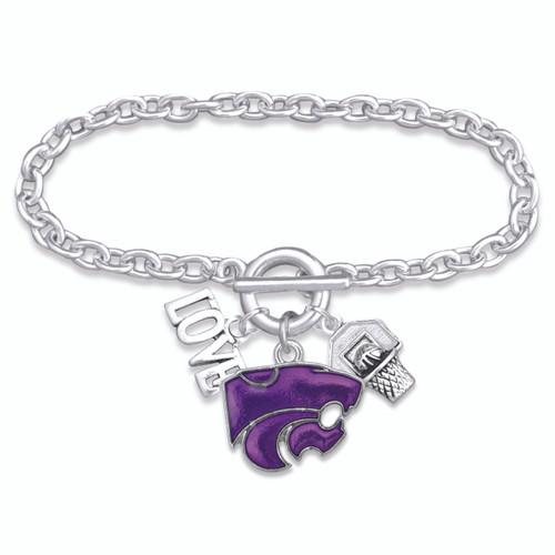 Kansas State Wildcats Bracelet- Slam Dunk- KSU56830