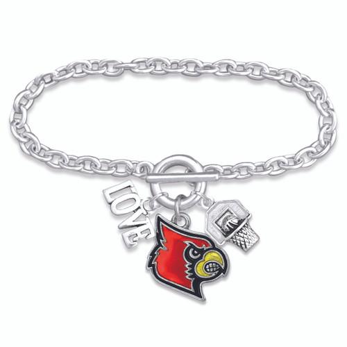Louisville Cardinals Bracelet- Slam Dunk- LOU56787