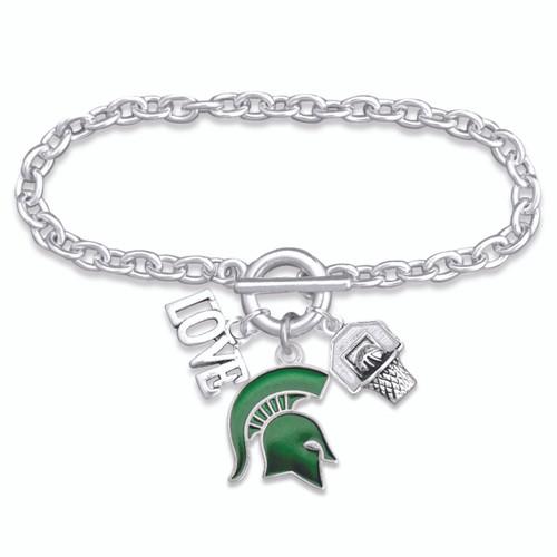 Michigan State Slam Dunk Bracelet-MCS56835
