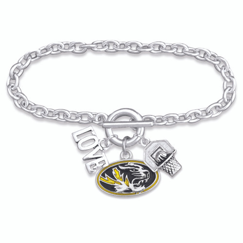 Missouri Tigers Slam Dunk Bracelet-MIS56838