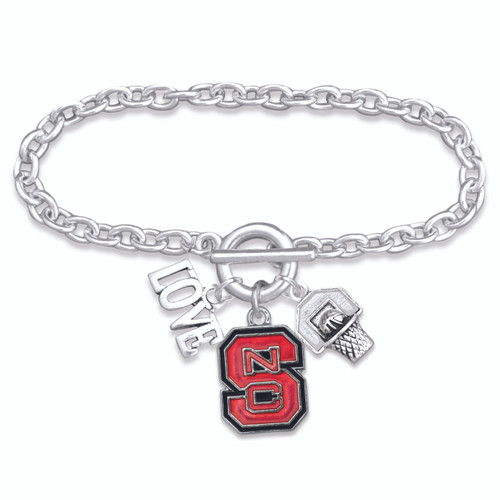 NC State Wolf Pack Slam Dunk Bracelet-NCS56841