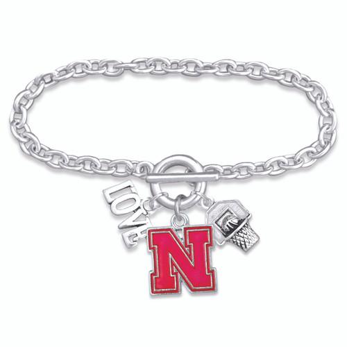 Nebraska Cornhuskers Bracelet- Slam Dunk- NB56839