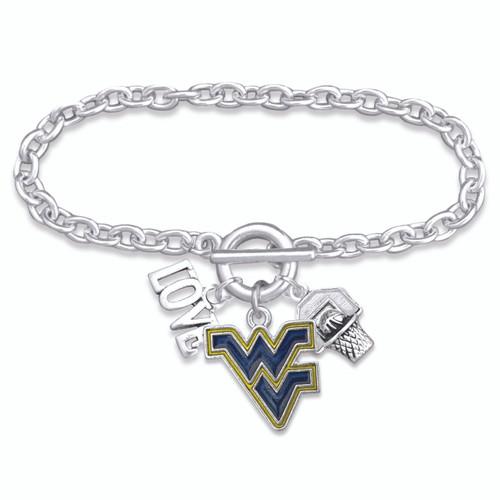 West Virginia Mountaineers Bracelet- Slam Dunk- WV56857