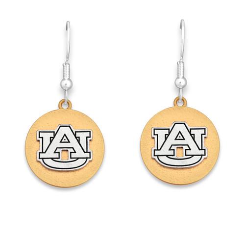 Auburn Tigers Two Tone Medallion Earrings