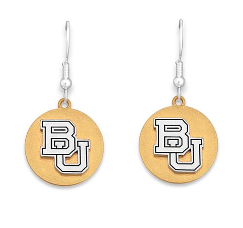Baylor Bears Two Tone Medallion Earrings
