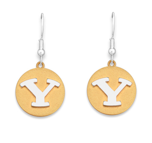 BYU Cougars Two Tone Medallion Earrings