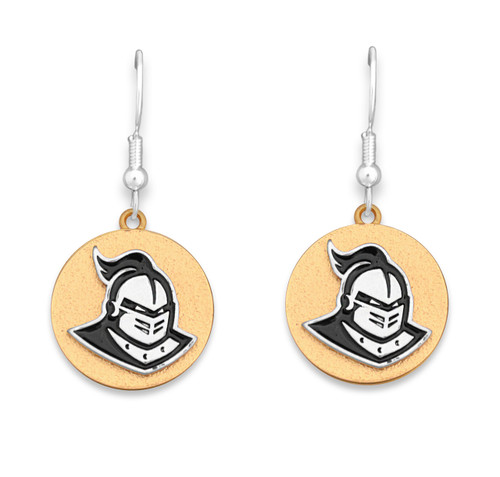 Central Florida Knights Two Tone Medallion Earrings
