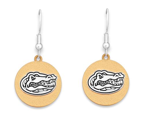 Florida Gators Two Tone Medallion Earrings