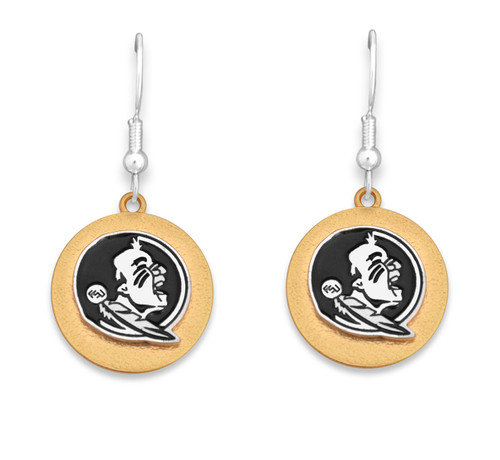 Florida State Seminoles Two Tone Medallion Earrings