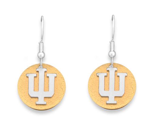 Indiana Hoosiers Two Tone Medallion Earrings