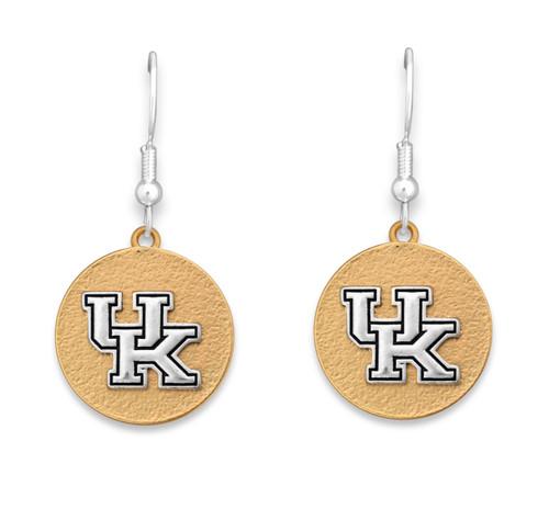 Kentucky Wildcats Two Tone Medallion Earrings
