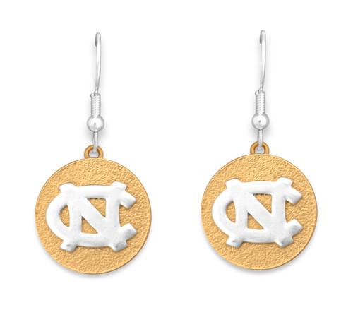 North Carolina Tar Heels Two Tone Medallion Earrings