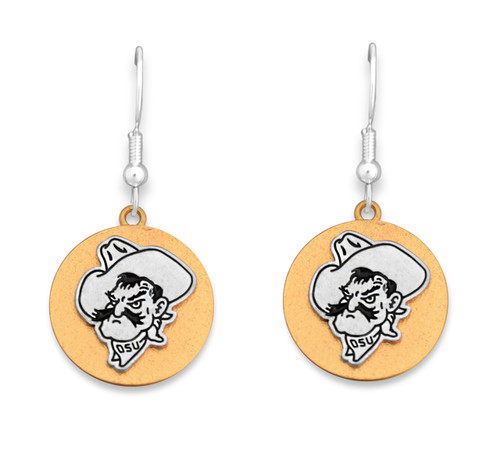 Oklahoma State Cowboys Two Tone Medallion Earrings
