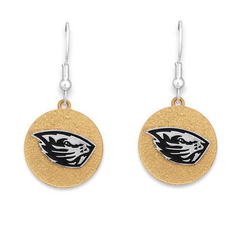 Oregon State Beavers Two Tone Medallion Earrings