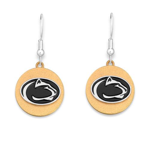 Penn State Nittany Lions Two Tone Medallion Earrings