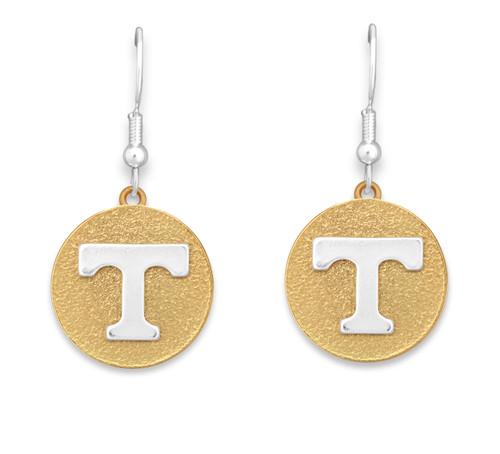 Tennessee Volunteers Two Tone Medallion Earrings