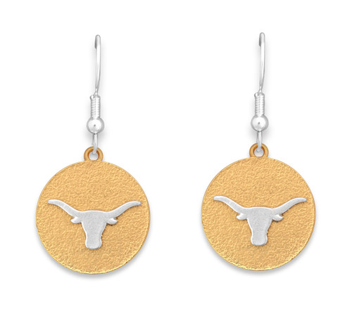Texas Longhorns Two Tone Medallion Earrings