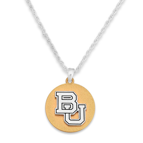 Baylor Bears Two Tone Medallion Necklace