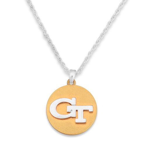 Georgia Tech Yellow Jackets Two Tone Medallion Necklace
