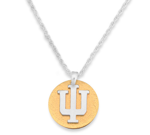 Indiana Hoosiers Two Tone Medallion Necklace