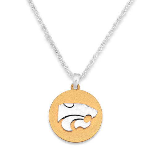 Kansas State Wildcats Two Tone Medallion Necklace
