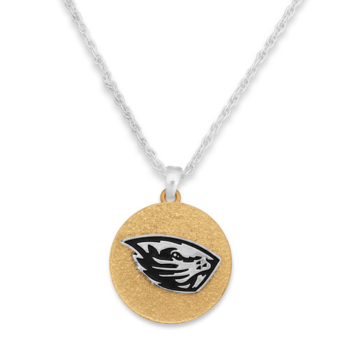 Oregon State Beavers Two Tone Medallion Necklace