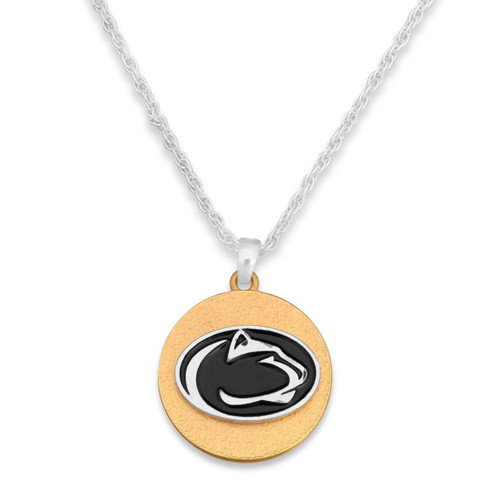 Penn State Nittany Lions Two Tone Medallion Necklace