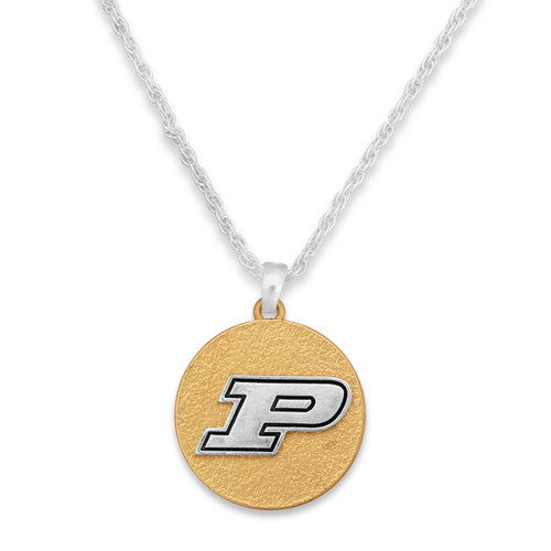 Purdue Boilermakers Two Tone Medallion Necklace
