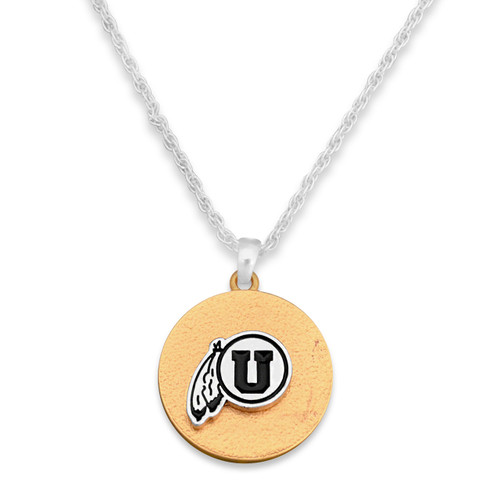 Utah Utes Two Tone Medallion Necklace