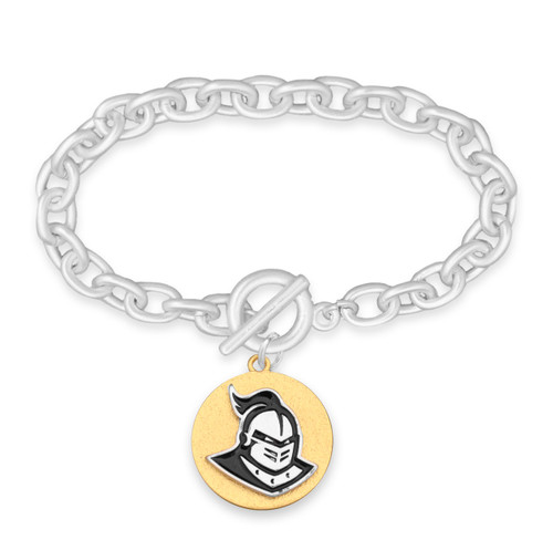 Central Florida Knights Two Tone Medallion Bracelet