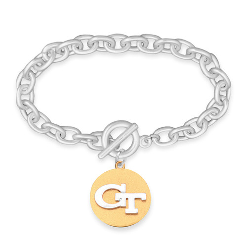 Georgia Tech Yellow Jackets Two Tone Medallion Bracelet