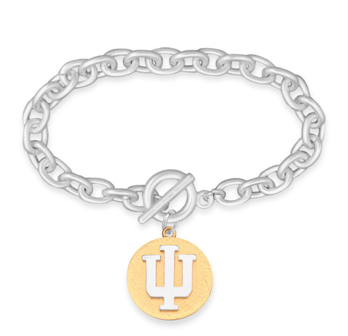 Indiana Hoosiers Two Tone Medallion Bracelet