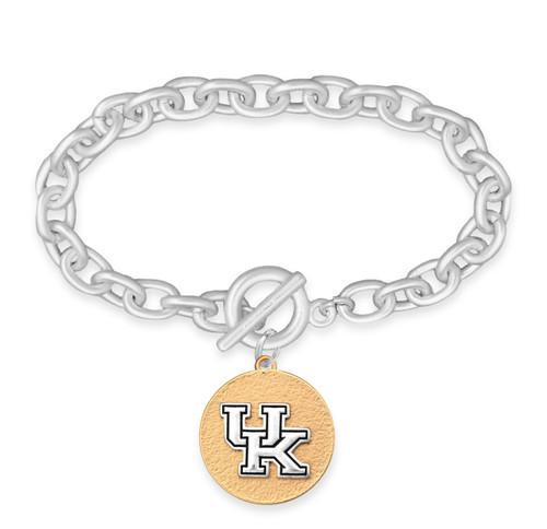 Kentucky Wildcats Two Tone Medallion Bracelet