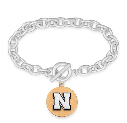 Nebraska Cornhuskers Two Tone Medallion Bracelet