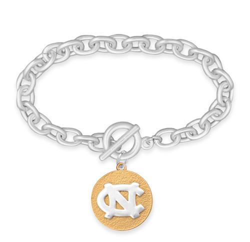 North Carolina Tar Heels Two Tone Medallion Bracelet