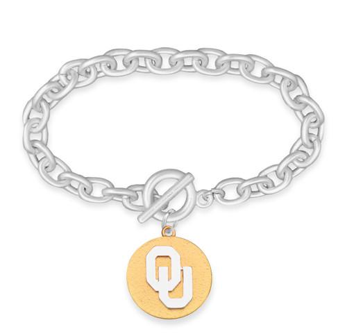 Oklahoma Sooners Two Tone Medallion Bracelet