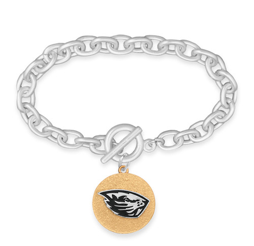 Oregon State Beavers Two Tone Medallion Bracelet