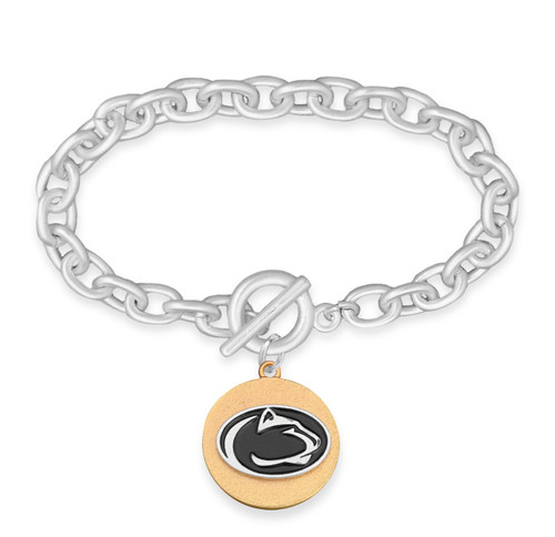 Penn State Nittany Lions Two Tone Medallion Bracelet