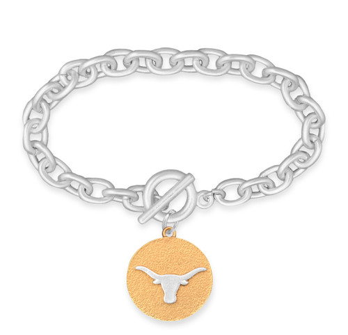 Texas Longhorns Two Tone Medallion Bracelet