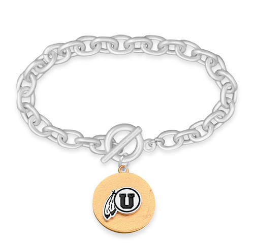 Utah Utes Two Tone Medallion Bracelet