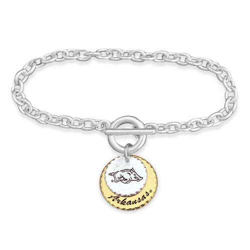 Arkansas Razorback Haute Stamp Toggle Bracelet
