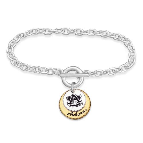 Auburn Tigers Haute Stamp Toggle Bracelet