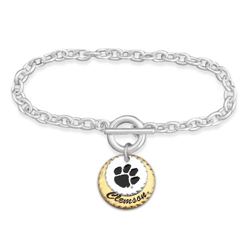 Clemson Tigers Haute Stamp Toggle Bracelet