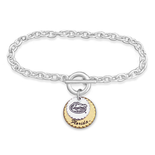 Florida Gators Haute Stamp Toggle Bracelet