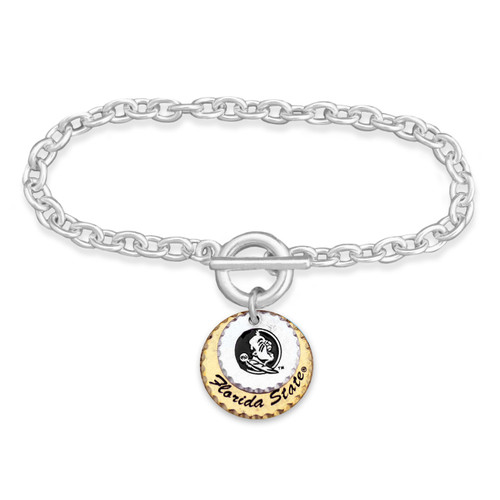 Florida State Seminoles Haute Stamp Toggle Bracelet