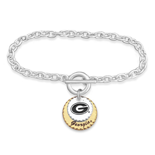 Georgia Bulldogs Haute Stamp Toggle Bracelet
