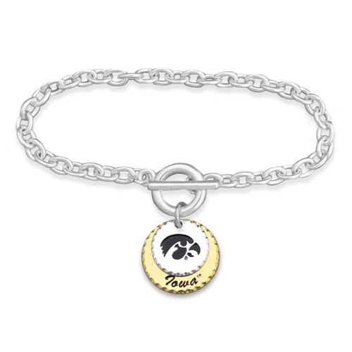 Iowa Hawkeyes Haute Stamp Toggle Bracelet