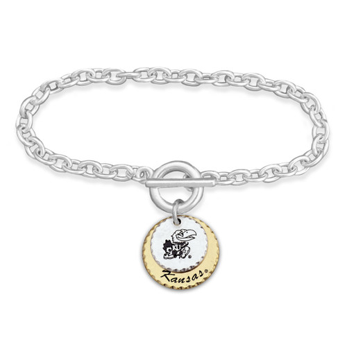 Kansas Jayhawks Haute Stamp Toggle Bracelet