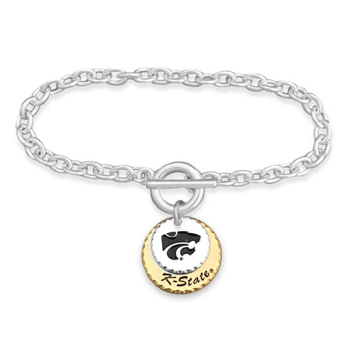 Kansas State Wildcats Haute Stamp Toggle Bracelet